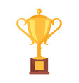 golden cup prize icon vector image vector image