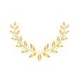 golden laurel or olive greek wreath for awards and vector image vector image