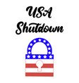 government shutdown in the united states vector image