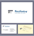 gun logo design with tagline front and back vector image vector image
