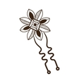 Hairpin with decoration vector image vector image