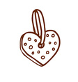 Hand Drawn Heart Decoration vector image vector image