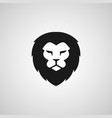 head lion logo design vector image vector image