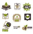 heath food subscription service box icons vector image