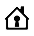 house icon with keyhole vector image vector image