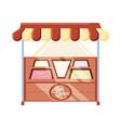 ice cream kiosk and showcase vector image