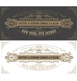 Invitation card template vintage vector image