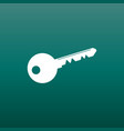 key icon in flat style on green background unlock vector image vector image