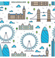 line london bridges skylines and sights seamless vector image