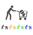 medical drugs buyer cart flat icon vector image
