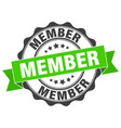 member stamp sign seal vector image vector image