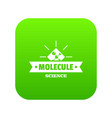 molecule science icon green vector image vector image