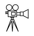 movie camera on tripod icon vector image