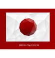 National flag of Japan vector image vector image