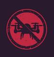 no drones sign no fly zone vector image