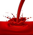 Red paint splashing vector image vector image