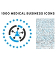Relations Diagram Icon with 1000 Medical Business vector image vector image