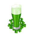 saint patricks day ale or beer in vector image vector image