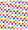 seamless colorful polka dot pattern on white vector image vector image