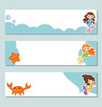 set of banners set of banners vector image vector image