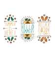 Set of summer hand-sketched elements vector image vector image