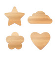 set of wooden decoration vector image vector image