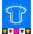 shirt paper sticker with hand drawn elements vector image