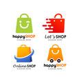 shopping store logo design vector image
