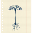 Sketch tree with roots for your design vector image