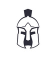 spartan greek helmet over white vector image vector image