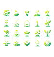 sprout simple gradient icons set vector image