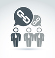 Teamwork and business team with chain link icon vector image