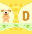 the english alphabet with dog vector image vector image