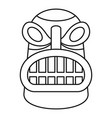 tiki idol head icon outline style vector image vector image
