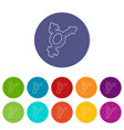transgender simbol icon outline style vector image