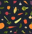 trendy seamless pattern with delicious vegetables vector image