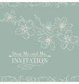 vintage decorative invitation card with sakura vector image