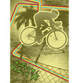 vintage urban grunge cyclist
