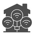 wifi connection in house solid icon smart home vector image vector image