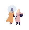 women with umbrella flat vector image vector image