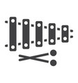 xylophone glyph icon music and instrument vector image vector image