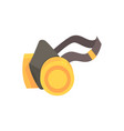yellow respirator protective equipment cartoon vector image vector image