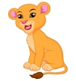 Cute lioness cartoon vector image