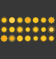 sun collection icon flat design vector image