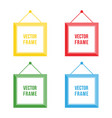 flat design colorful picture frame set collection vector image