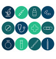 icons for medical websites applications flat vector image