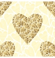 Seamlessly golden hearts on white background vector image