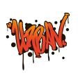 Urban style street Graffiti art vector image