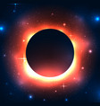 a black hole in space with stars vector image vector image