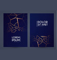 abstract geometric flyer collections with gold vector image vector image